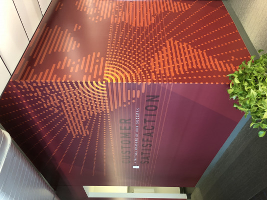 Wall graphics installation by VisuCom Graphics
