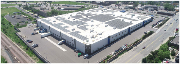 Vomela Companies unveils solar array in St. Paul.