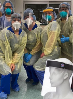 Image Options started producing face shields during the pandemic.