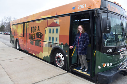 Winning design in the Design-a-Bus-Wrap student art contest sponsored by Avery Dennison.