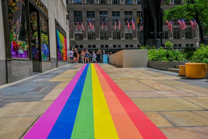 Rainbow Walkway at Rockefeller Center