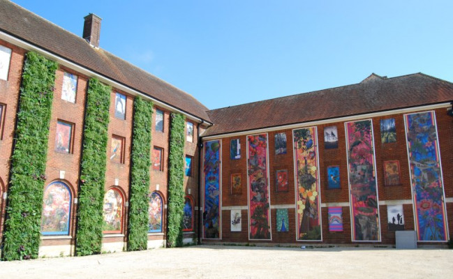 Embrace Building Wraps worked with Sandhurst Block in Hampshire, UK, to produce what is thought to be the UK's largest outdoor art installation.