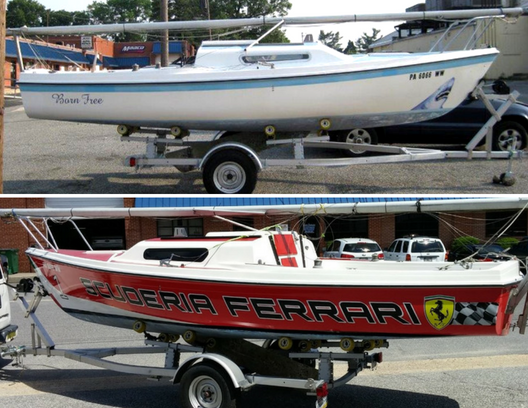 Signarama Boat Wrap Transformation