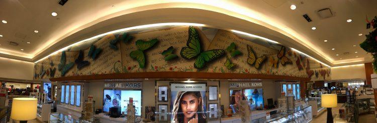 Macy's butterfly wall