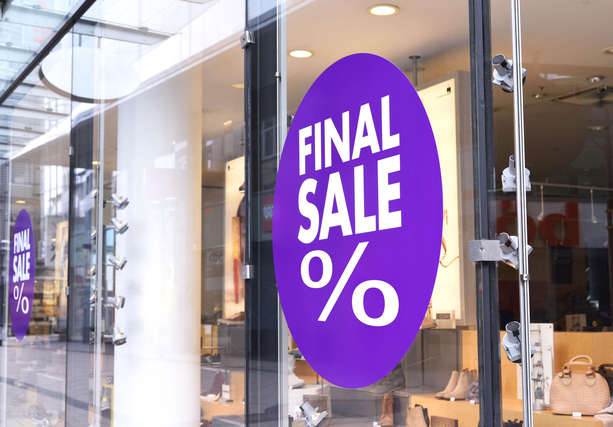 Mactac MDot Retail Sign