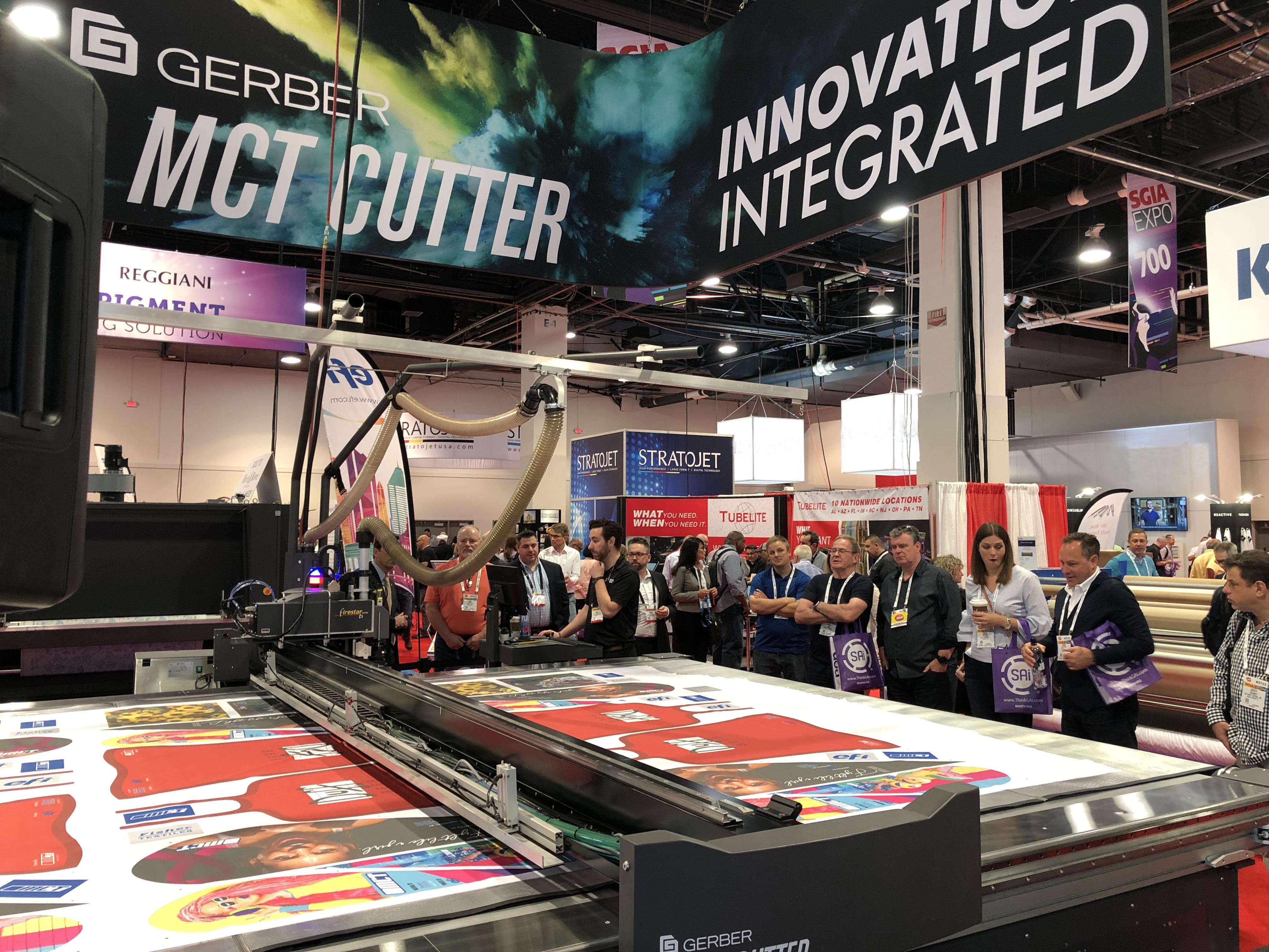 Gerber MCT Cutter SGIA 2018