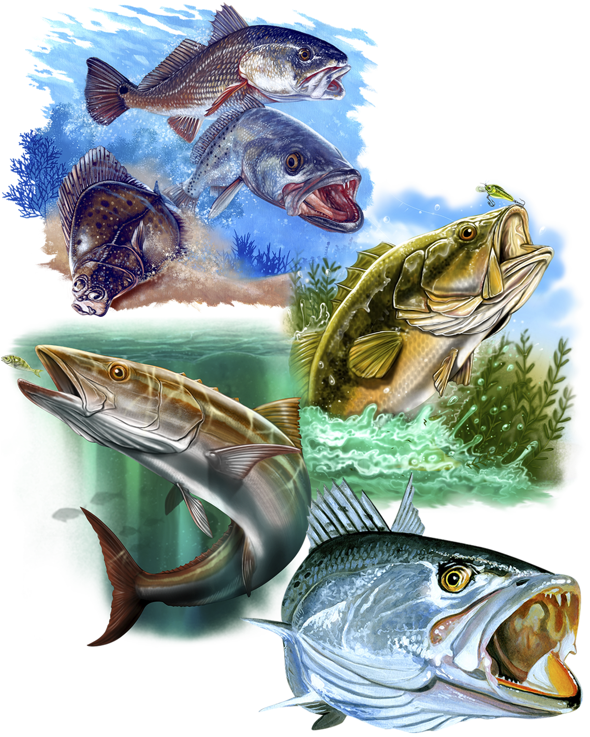 Great Dane Graphics Fishing Collage 2019