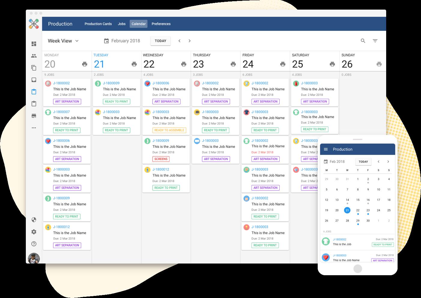 InkSoft Production Calendar