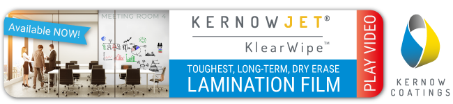 Kernow Coatings' new dry-erase technology, KenowJet KlearWipe