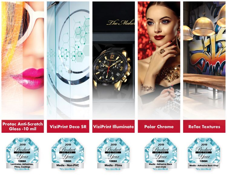 Drytac picks up five awards at SGIA 2019 Product of the Year competition
