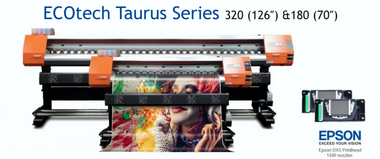 "Paradigm Imaging Group Introduces the New SID ECOTECH TAURUS SERIES OF 70"" & 126"" Eco-Solvent Printers"