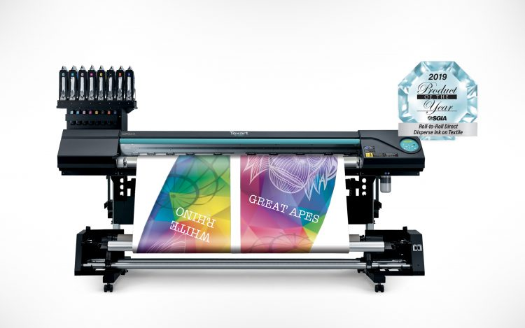 """Roland DGA Texart RT-640M multifunction dye-sublimation printer, Roland DGA Wins Three SGIA 2019 """"Product of the Year"""" Awards"""
