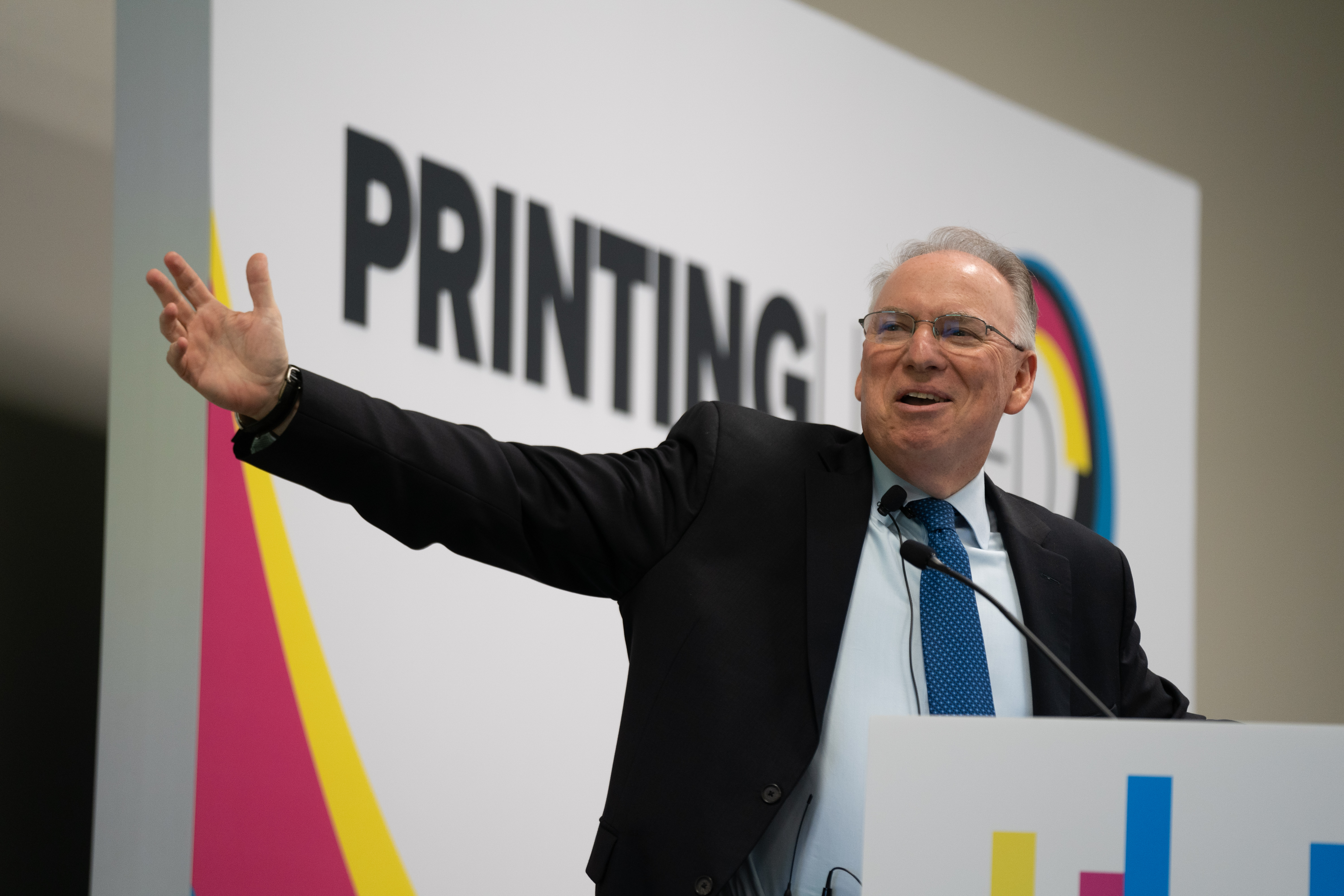 Jeff Jacobson, CEO of EFI, at PRINTING United