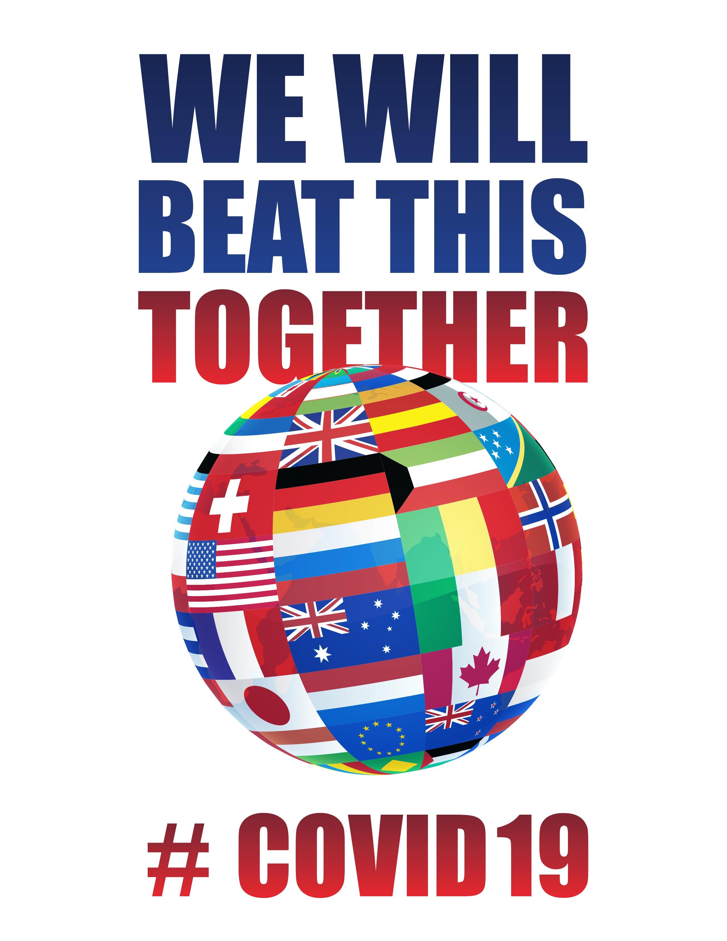 We will beat this together coronavirus poster.
