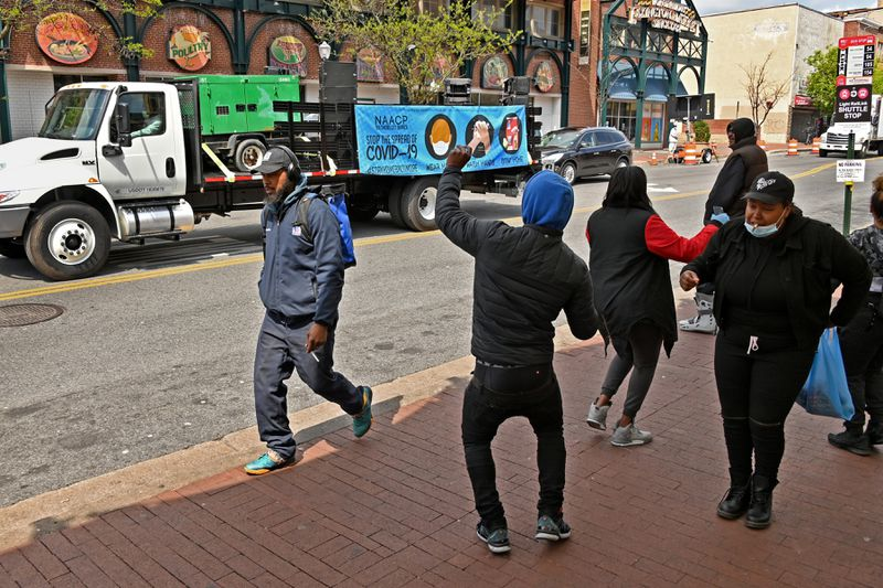 Baltimore NAACP Stay-at-Home Campaign Truck