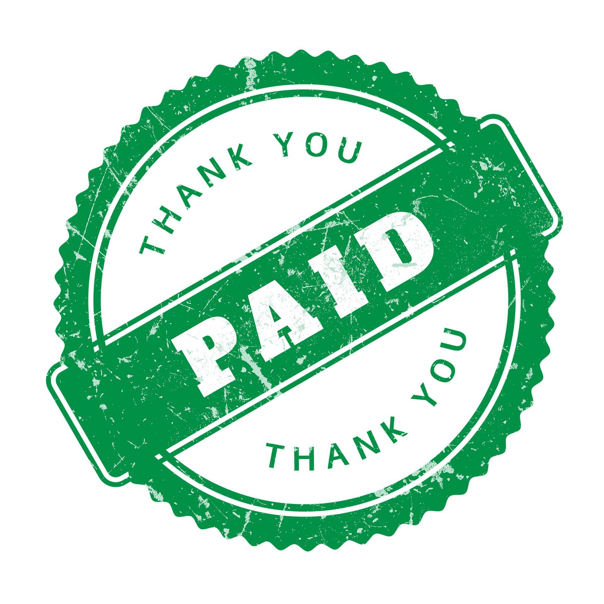 Accounts Receivable Paid Invoice