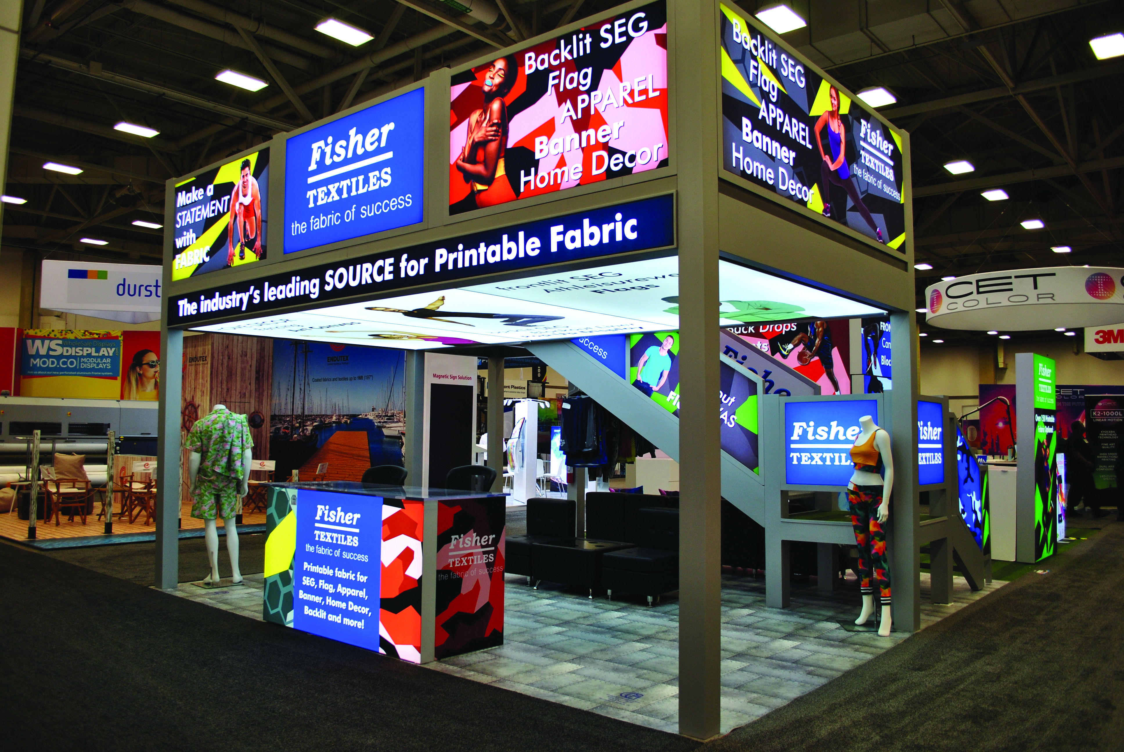 Digital textiles make installation easy for in-store personnel.