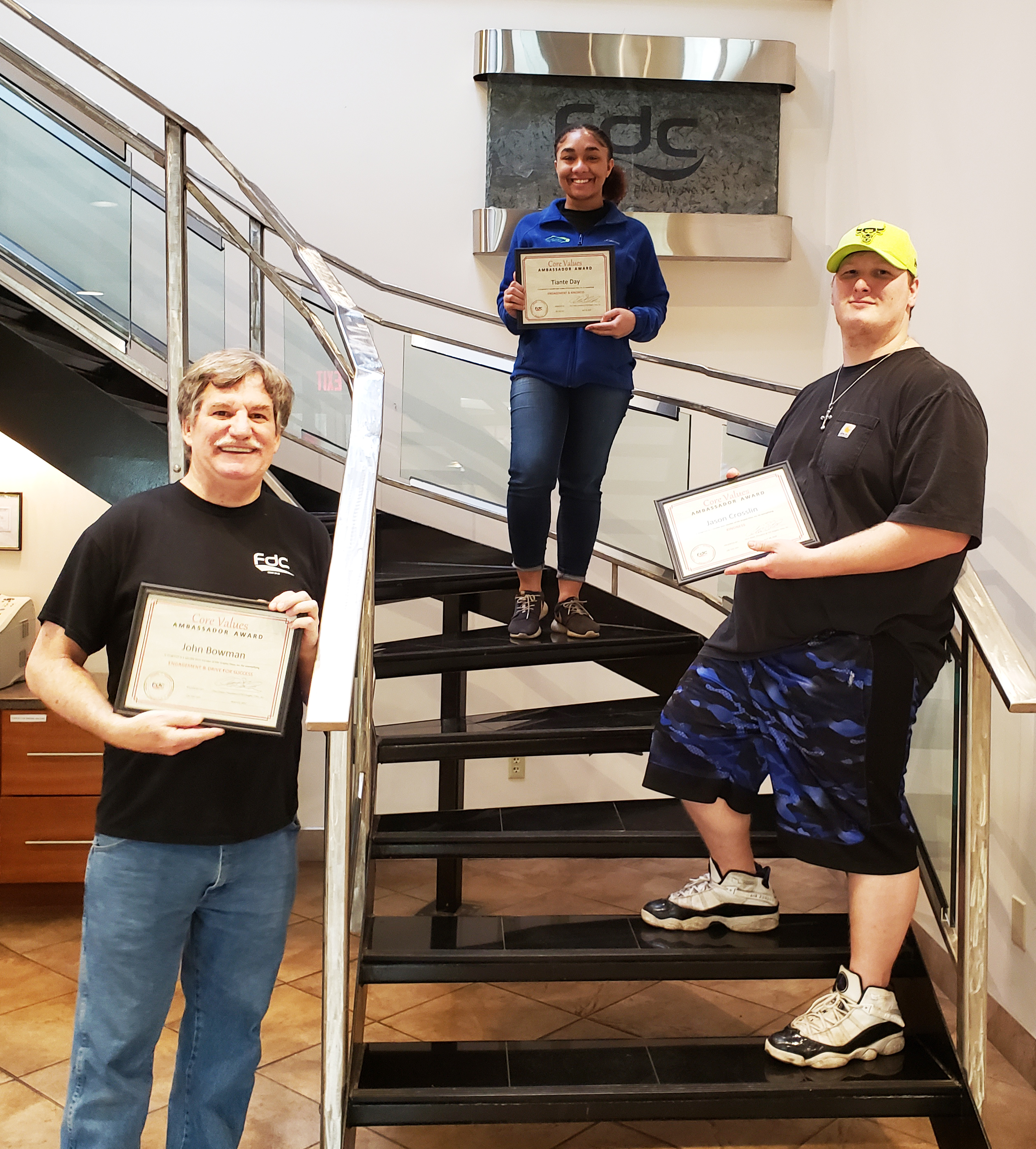 FDC recognizes employees who exemplify core values.