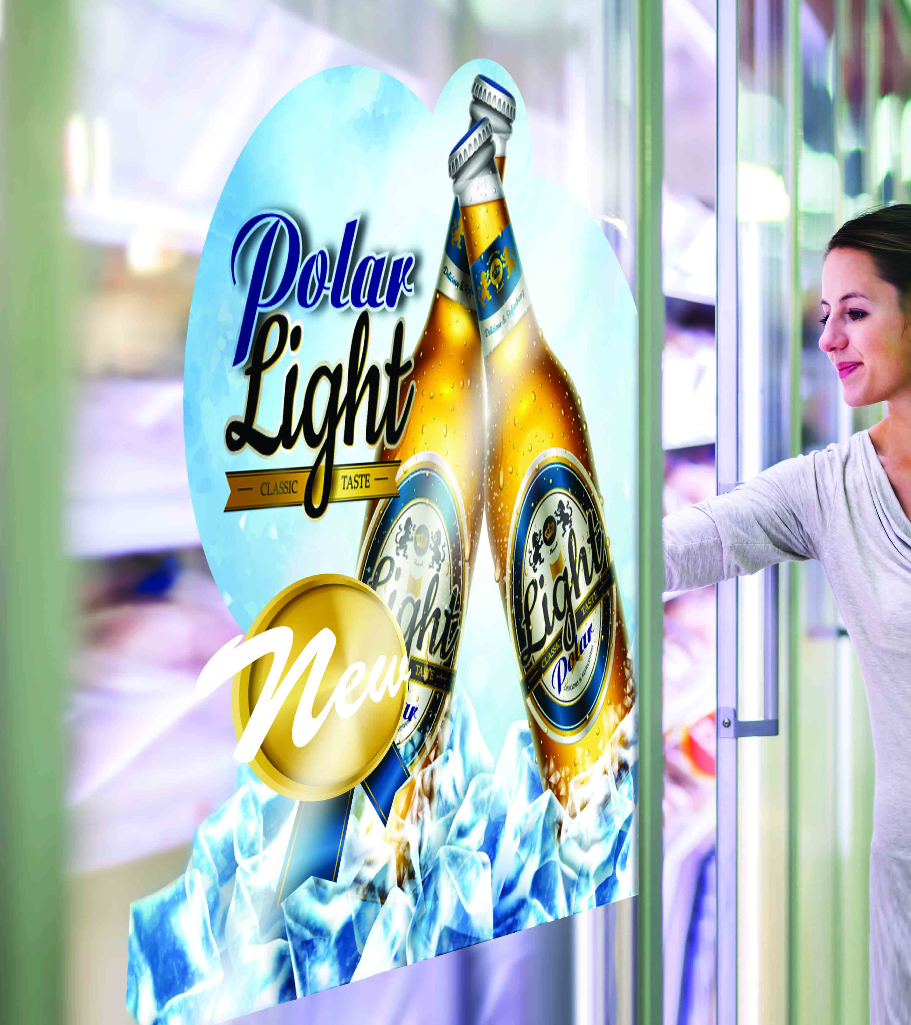 Backlit window graphics in retail locations