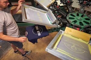 Advance stamp screen printing