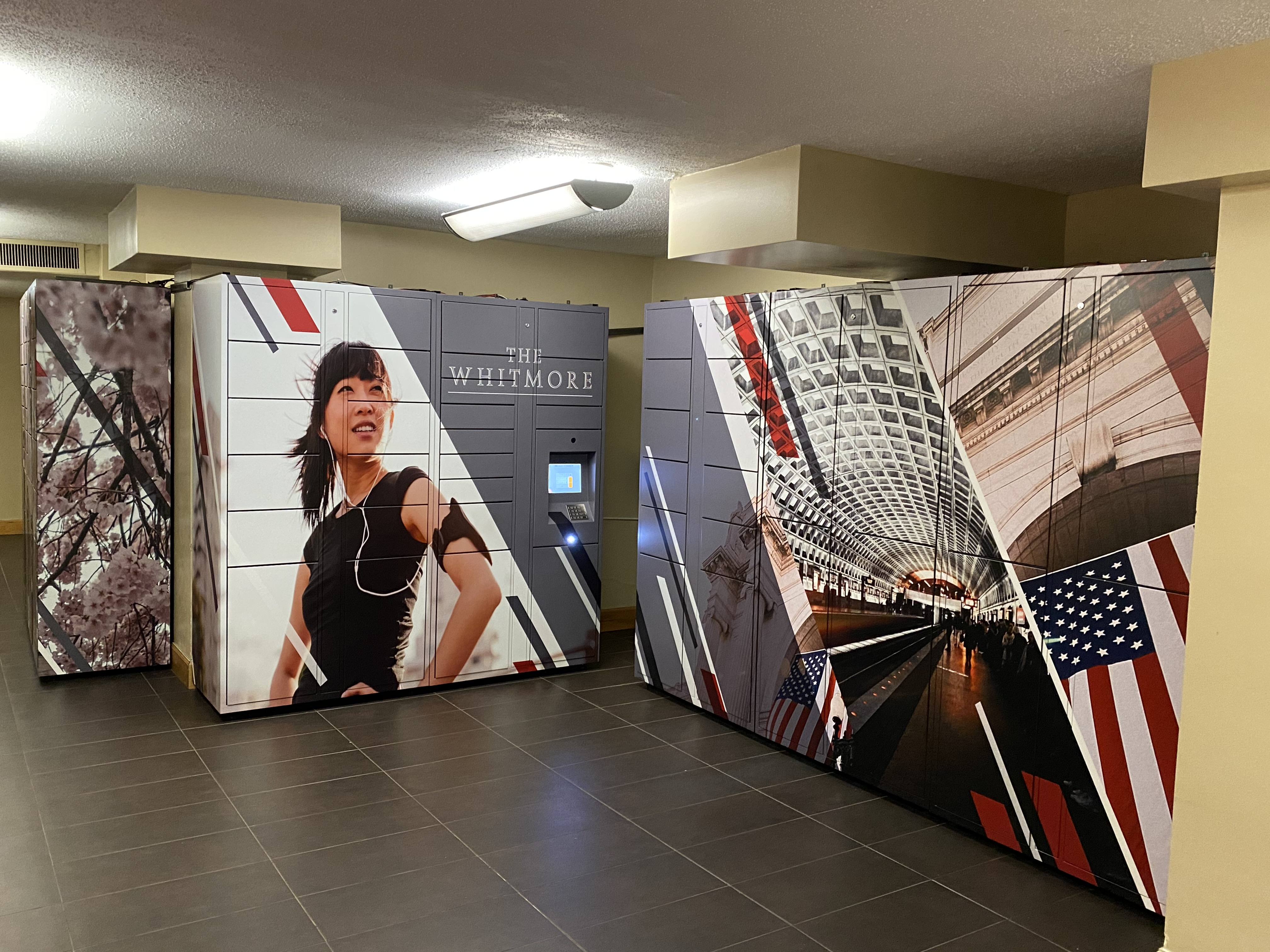 Locker graphics printed and installed by Axis Graphic Installations