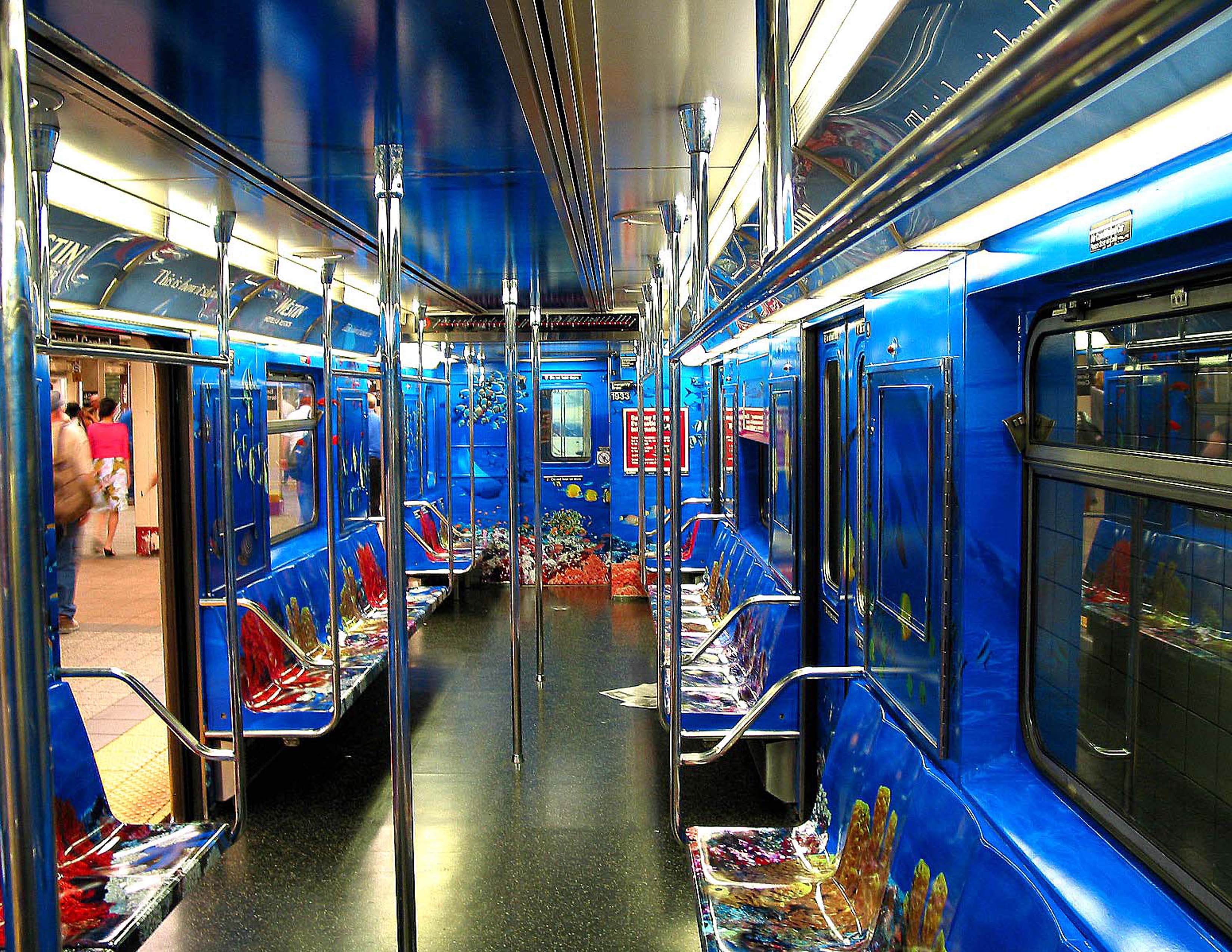 Manhattan subway, interior applied graphics by Axis Graphic Installations
