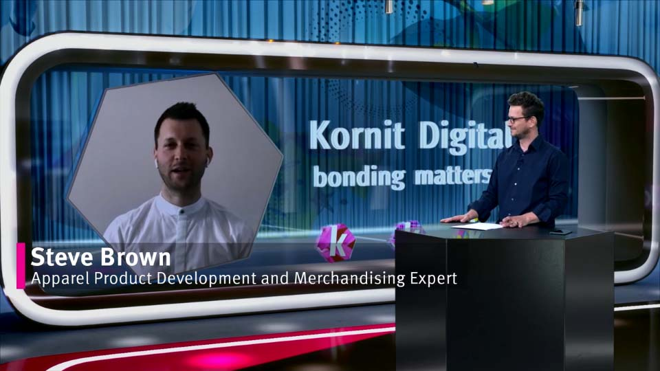 Steve Brown talks about the future of fashion in a Kornit webinar.