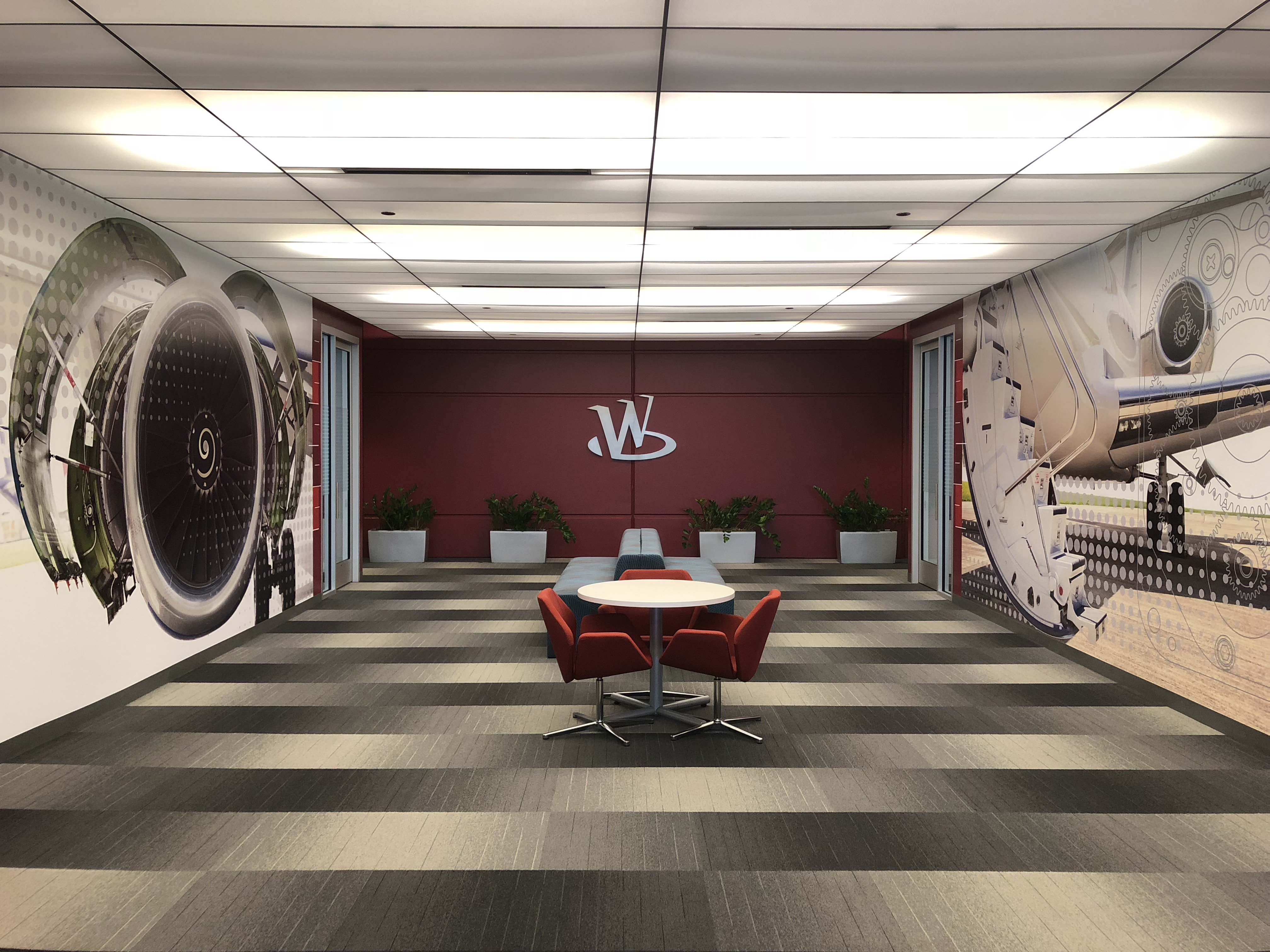 Board room graphics and sign installation by VisuCom Graphics