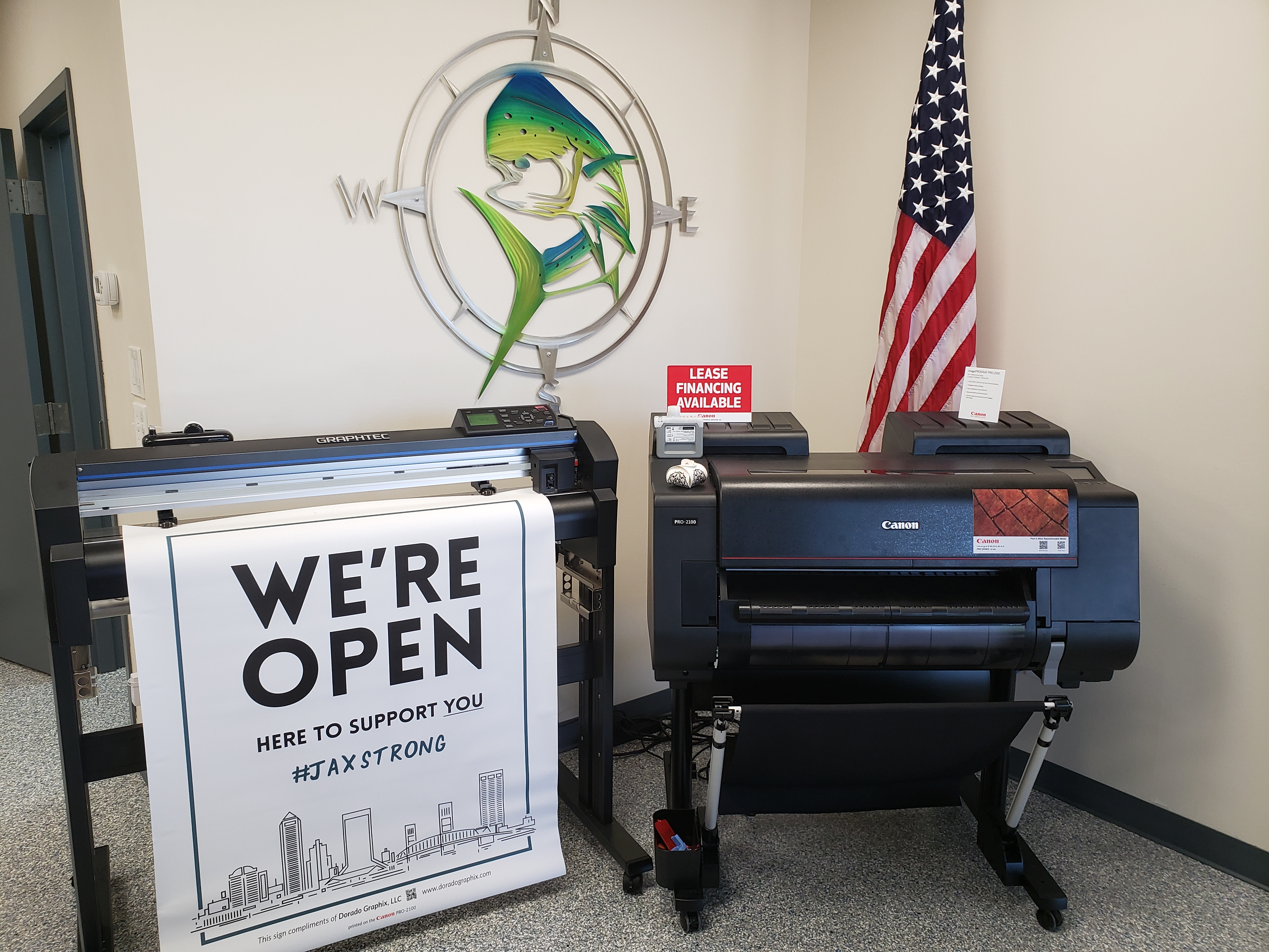 Dorado Graphix is using Canon's imagePROGRAF solutions to provide signage to local businesses.