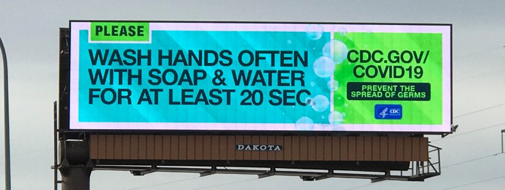 OOH billboards help spread COVID-19 messaging