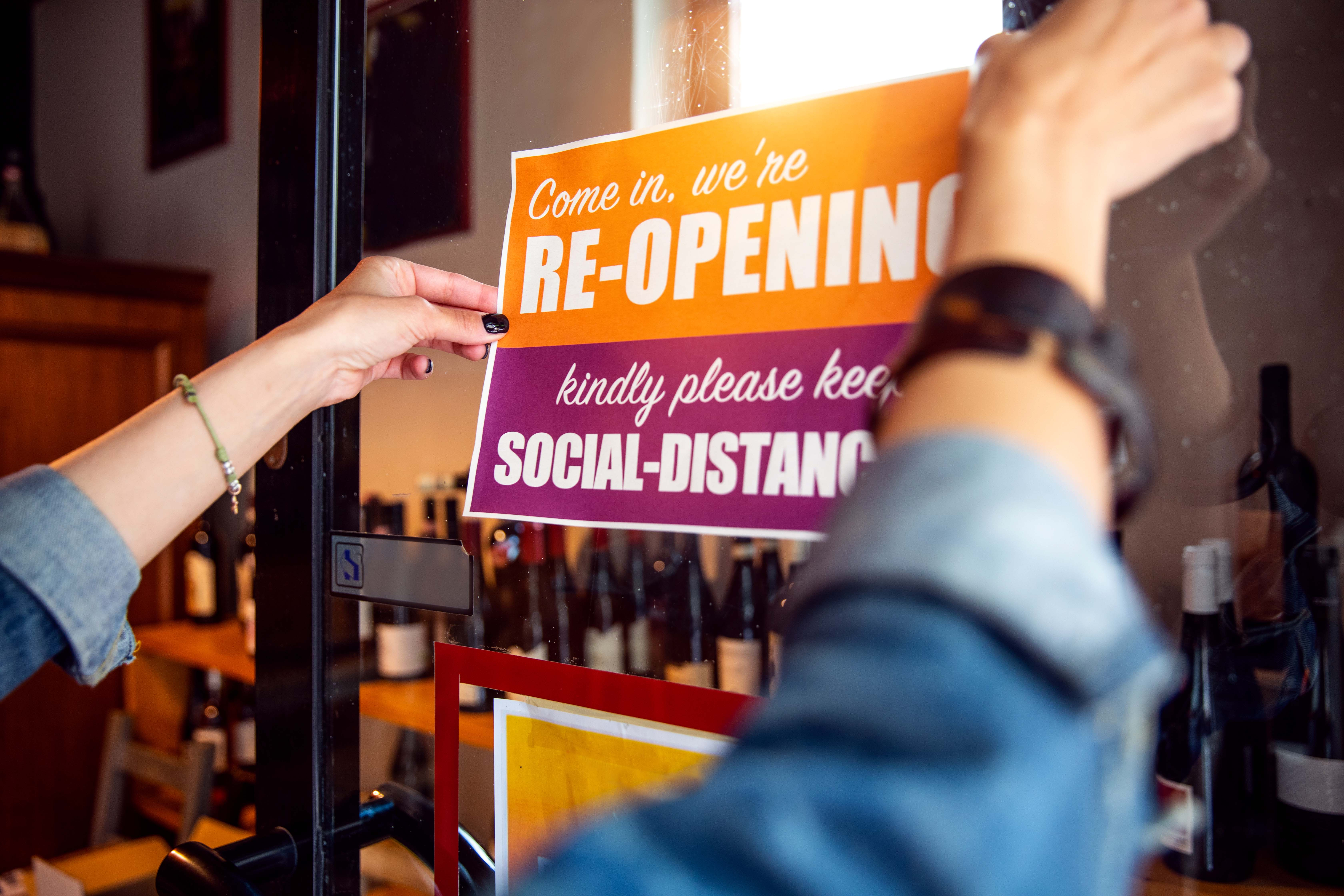 Social distancing signage has been a growth area for some PSPs.