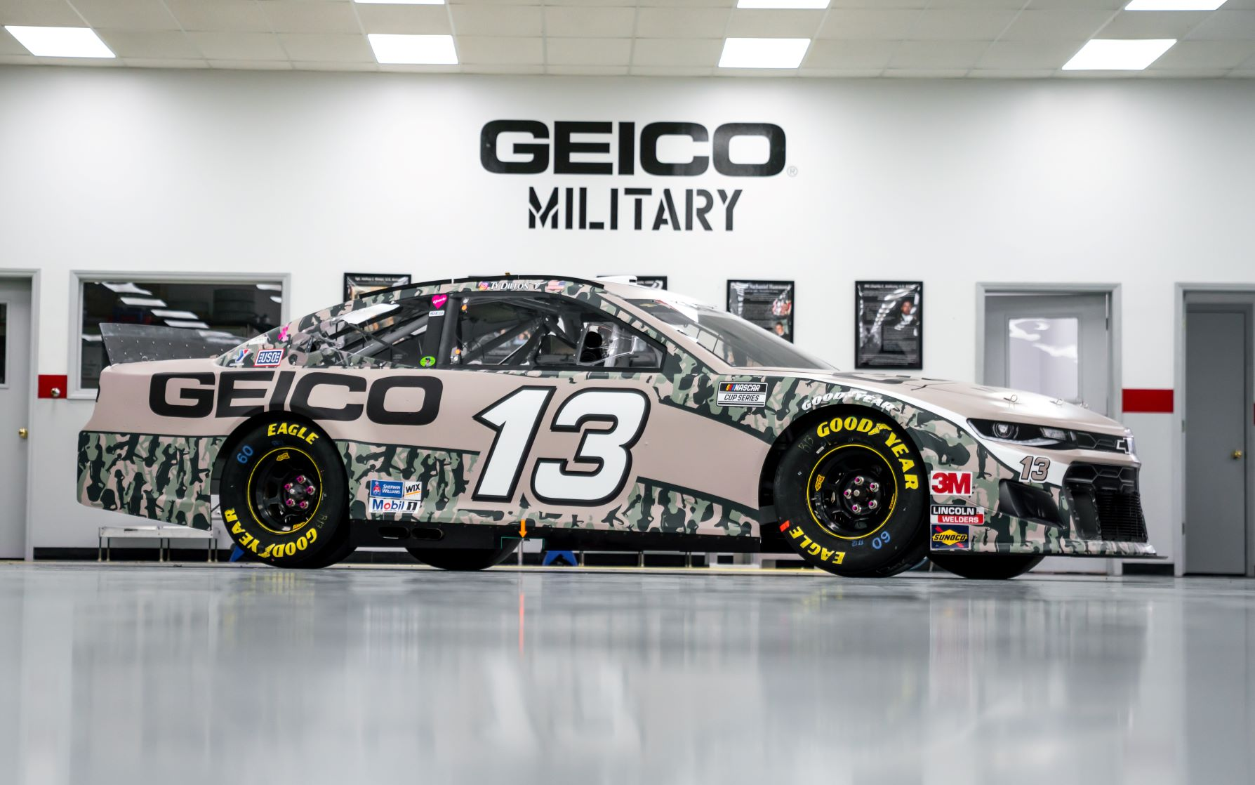 The New RCR NASCAR Geico Military Wrap