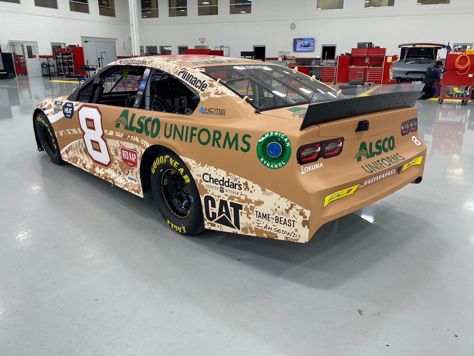 The New RCR NASCAR Alsco Uniforms Wrap