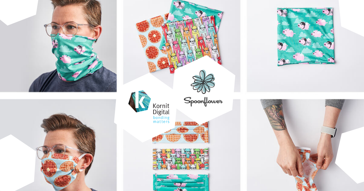 Spoonflower uses Kornit technology to respond to COVID-19 demand.