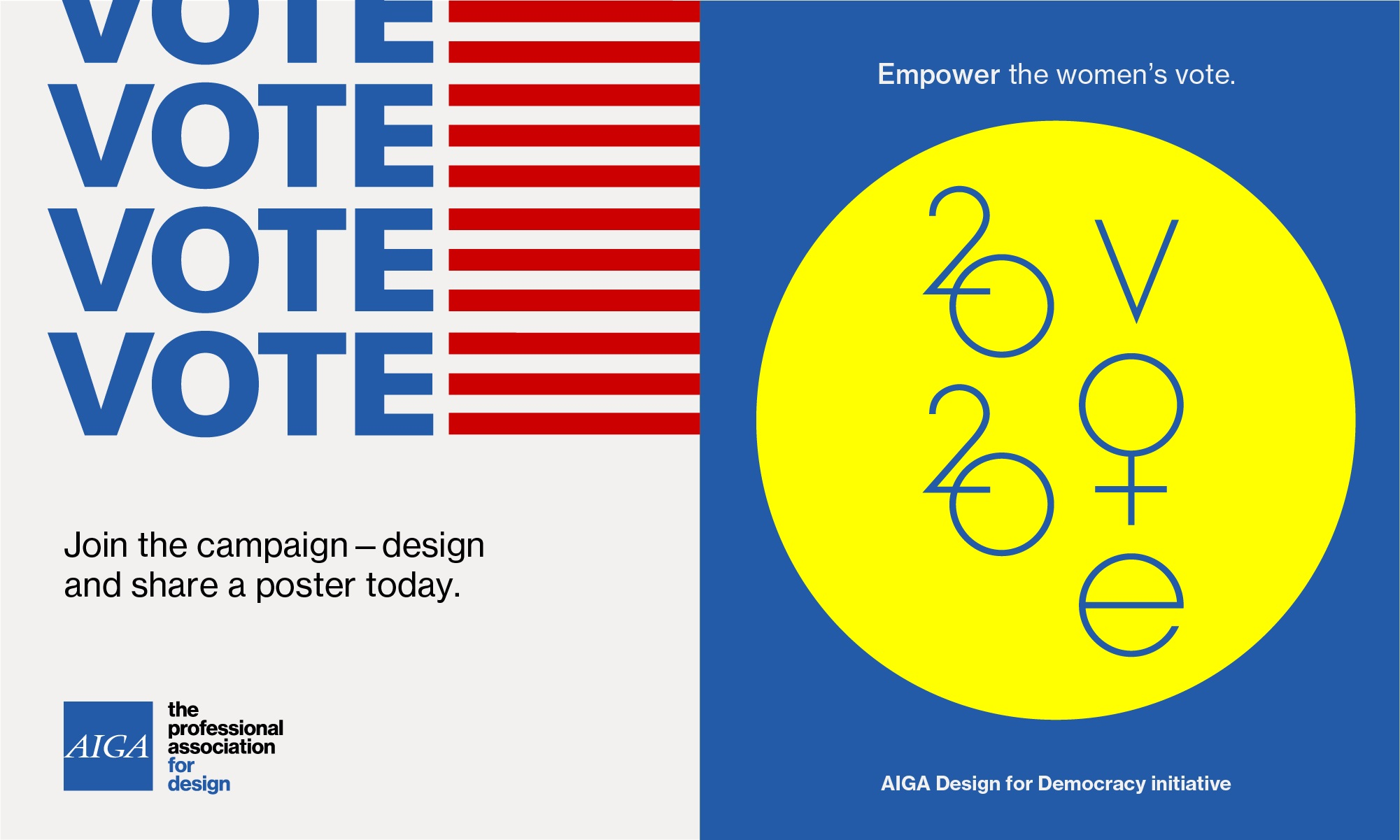 AIGA and other nonprofits partner to encourage people to Get Out the Vote.