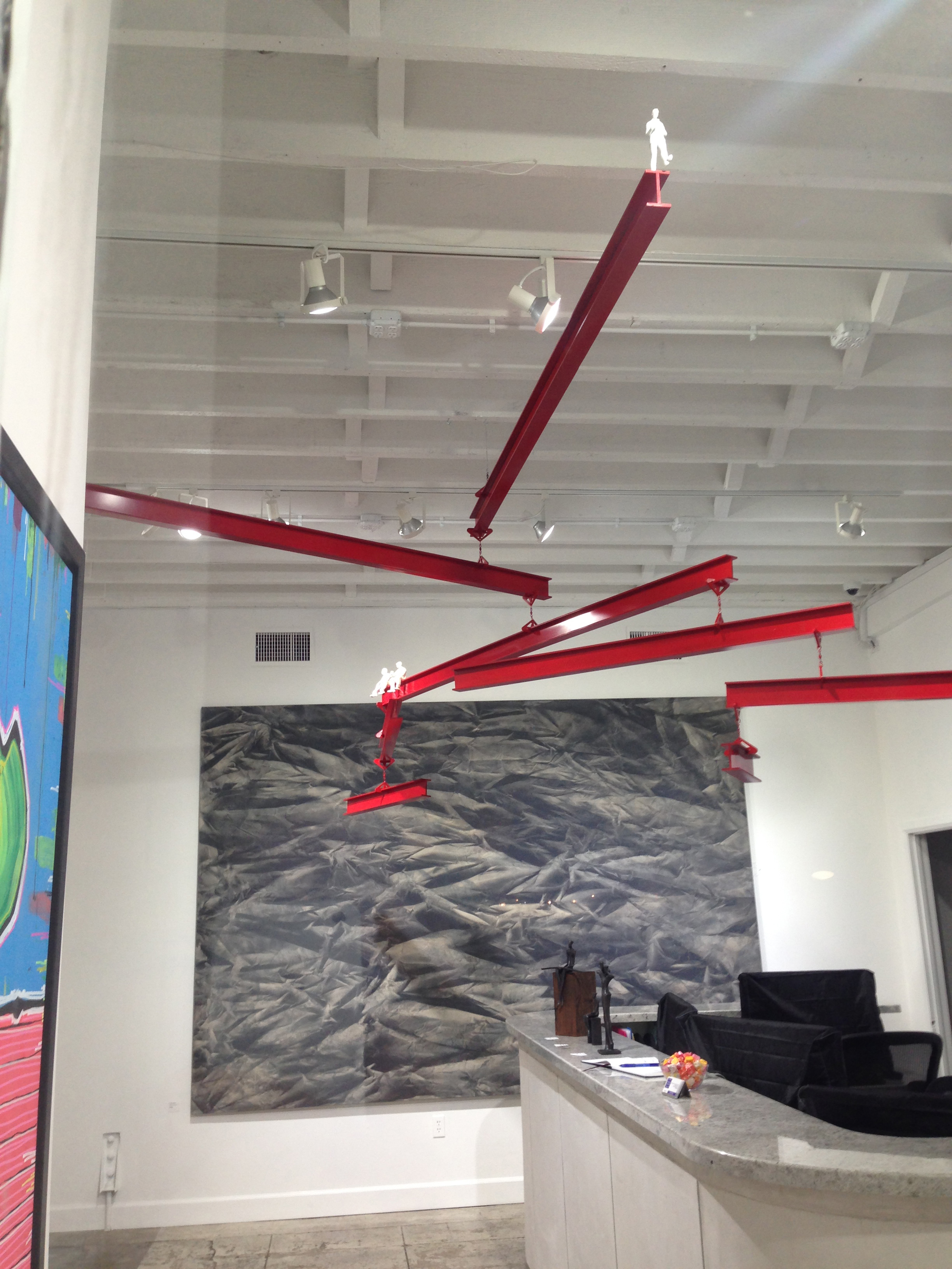 J F Jones kinetic art pieces use SINTRA graphic display board by 3A Composites.