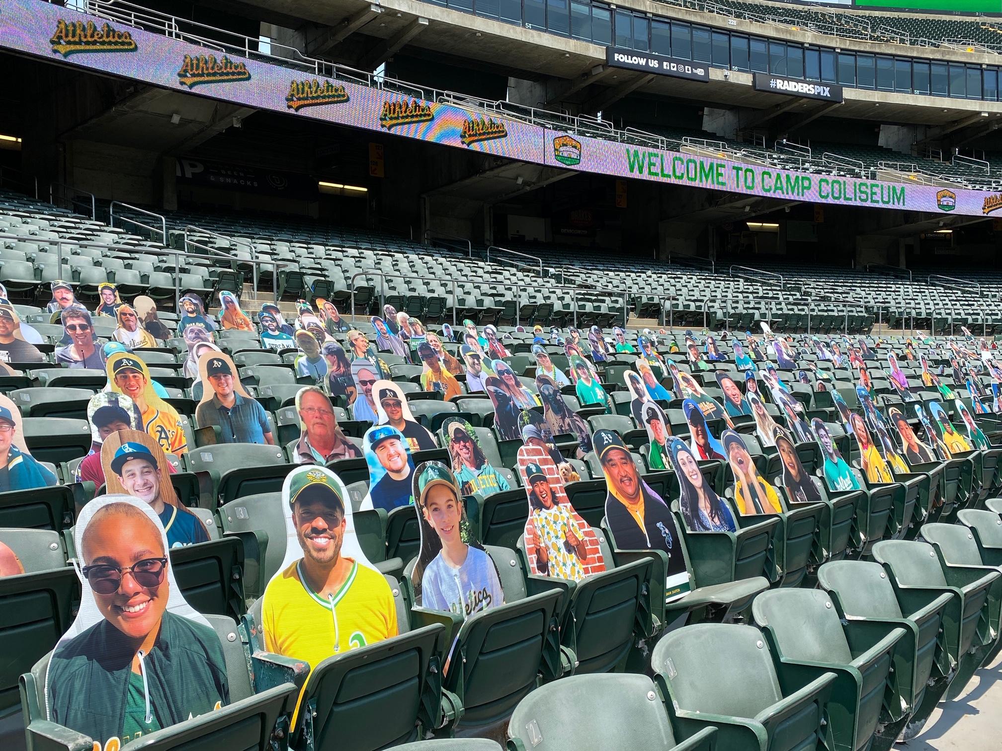 Oakland A's cutouts