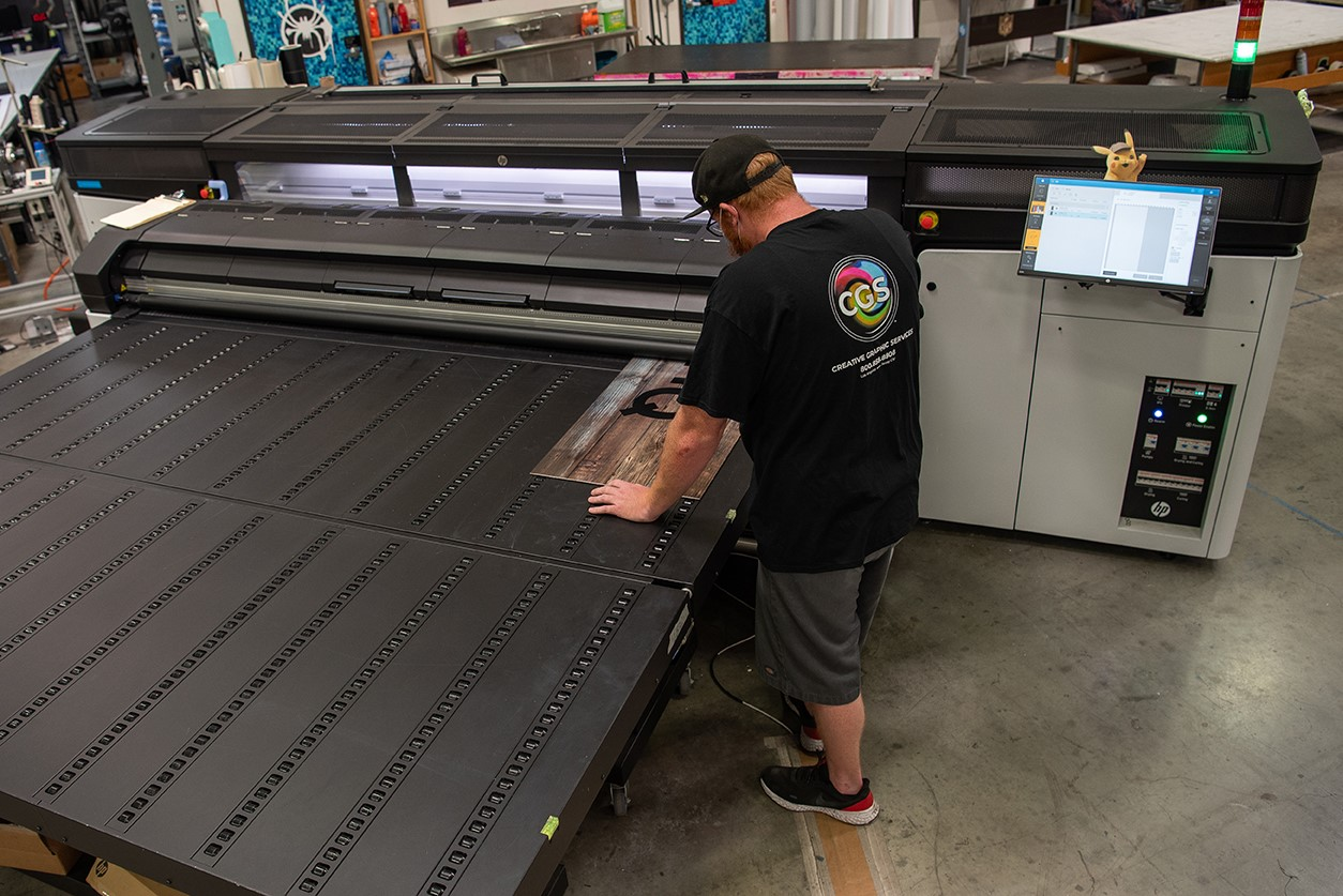 Creative Graphics Services added a fleet of new HP Latex R series flatbed printers.