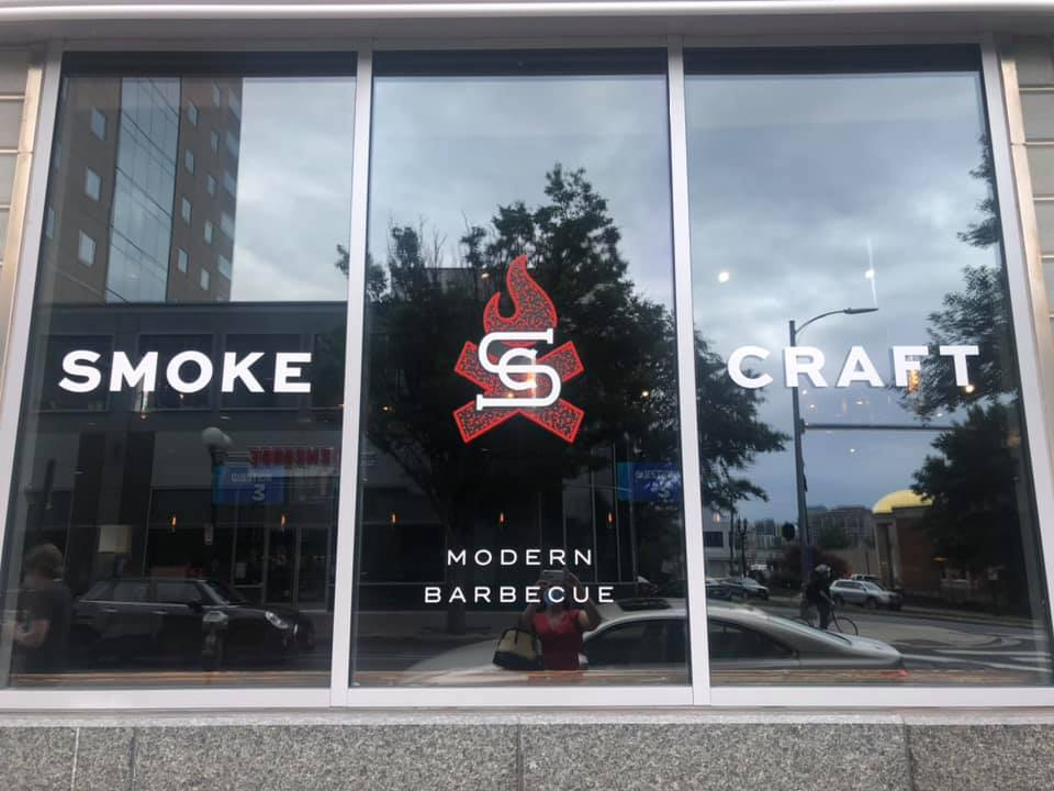 Smokecraft BBQ window graphics