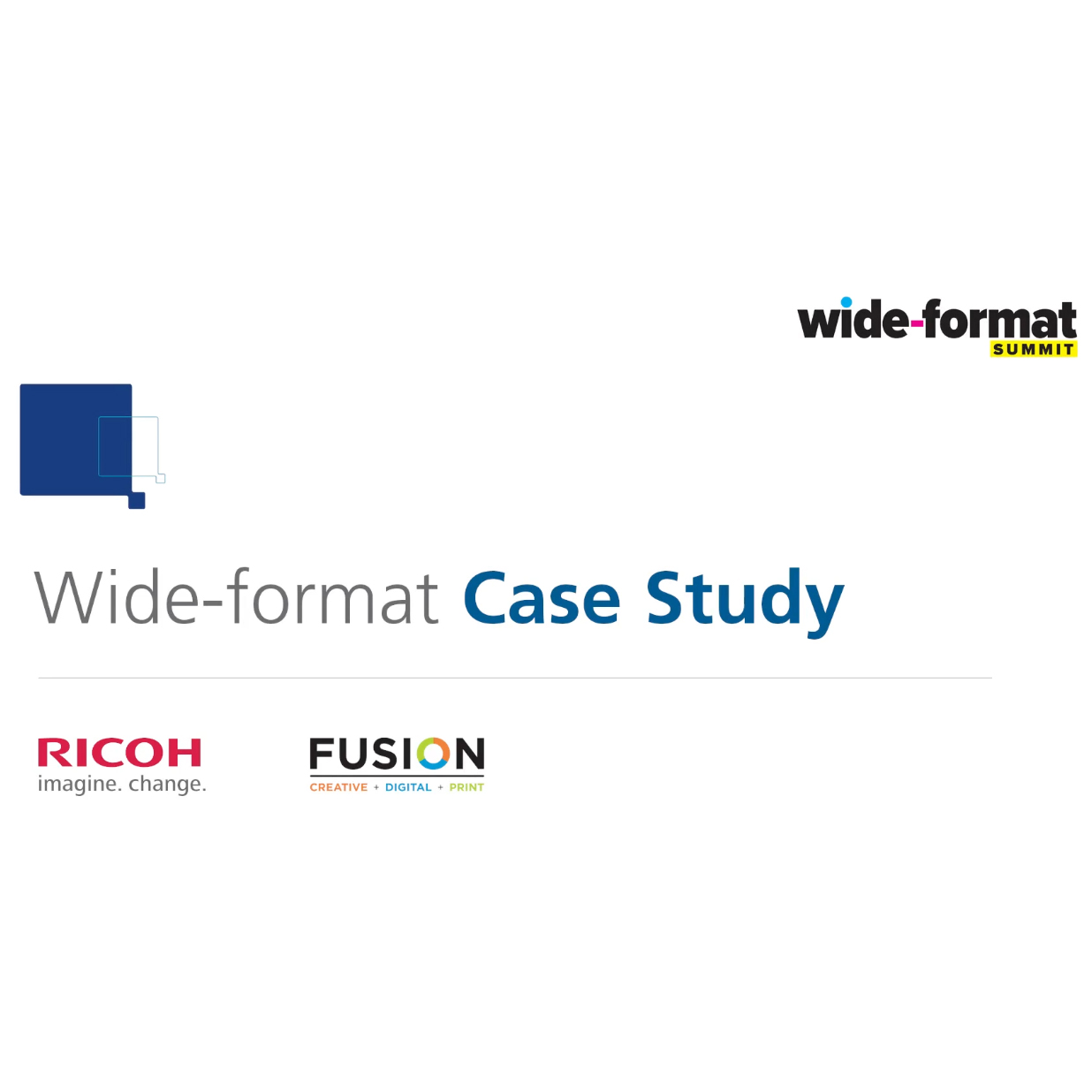wide-format case study