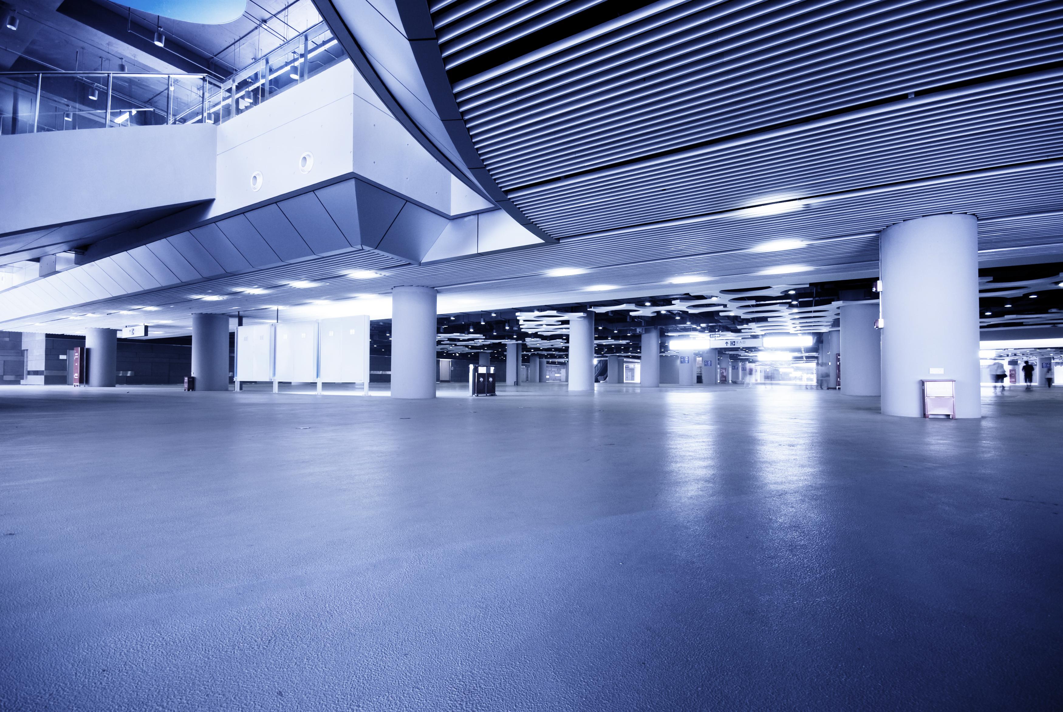 empty trade show floor