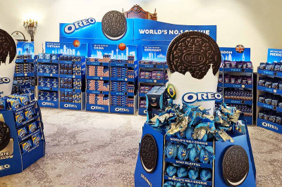 Nestle Oreo Display printed on the Agfa Jeti Tauro H3300 LED