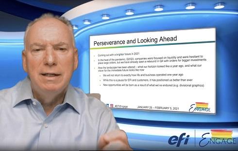 Jeff Jacobson opened EFI Engage.