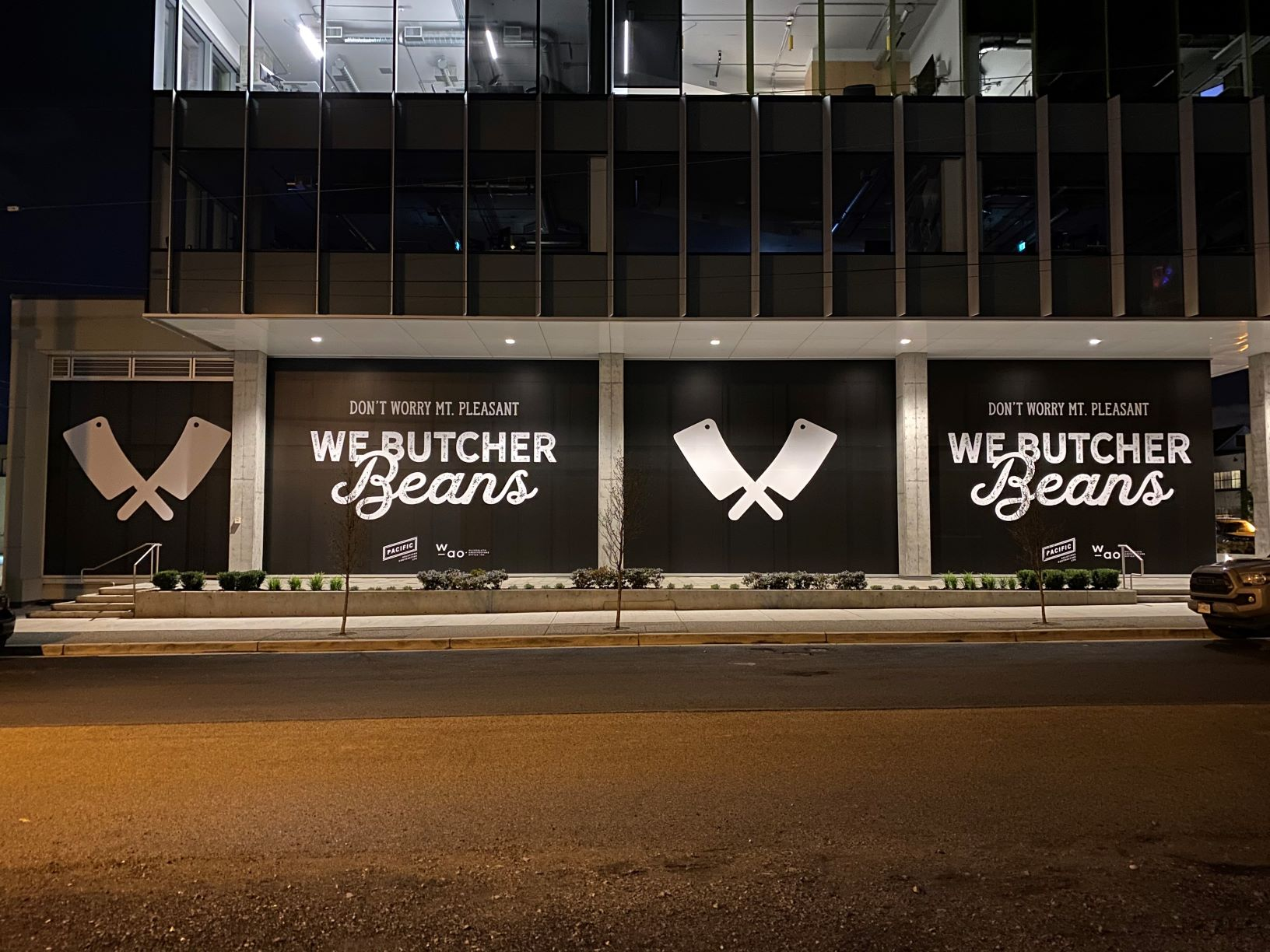 Premier Graphics used Drytac SpotOn Matte White for window graphics for The Very Good Food Company.