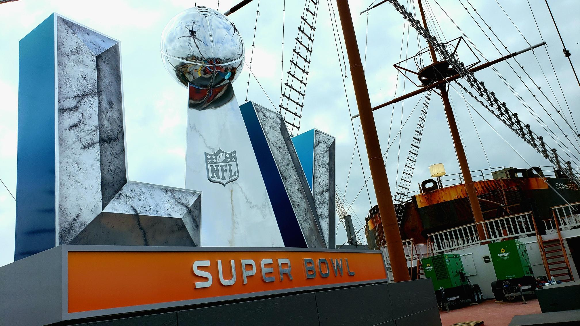 16 foot statue created for Super Bowl 2021