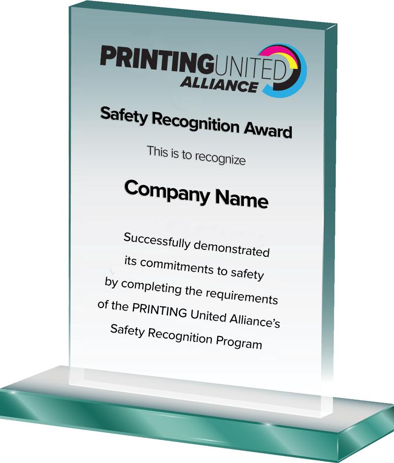 PRINTING United Alliance Safety Recognition Program Award