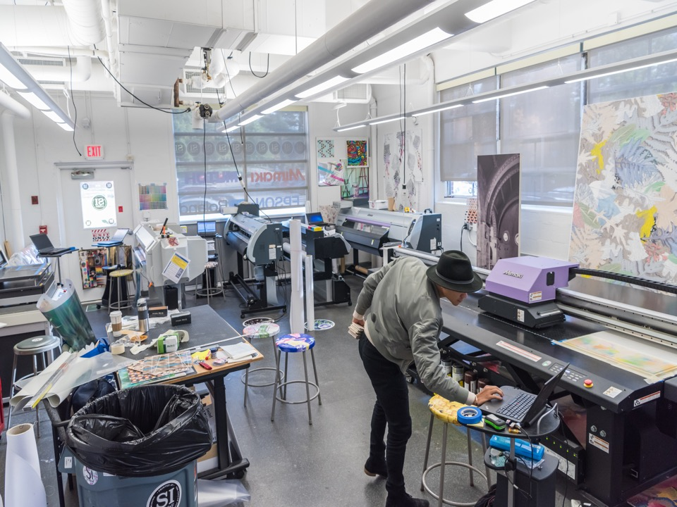 Digital textile printing at the The Center for Excellence in Surface Imaging