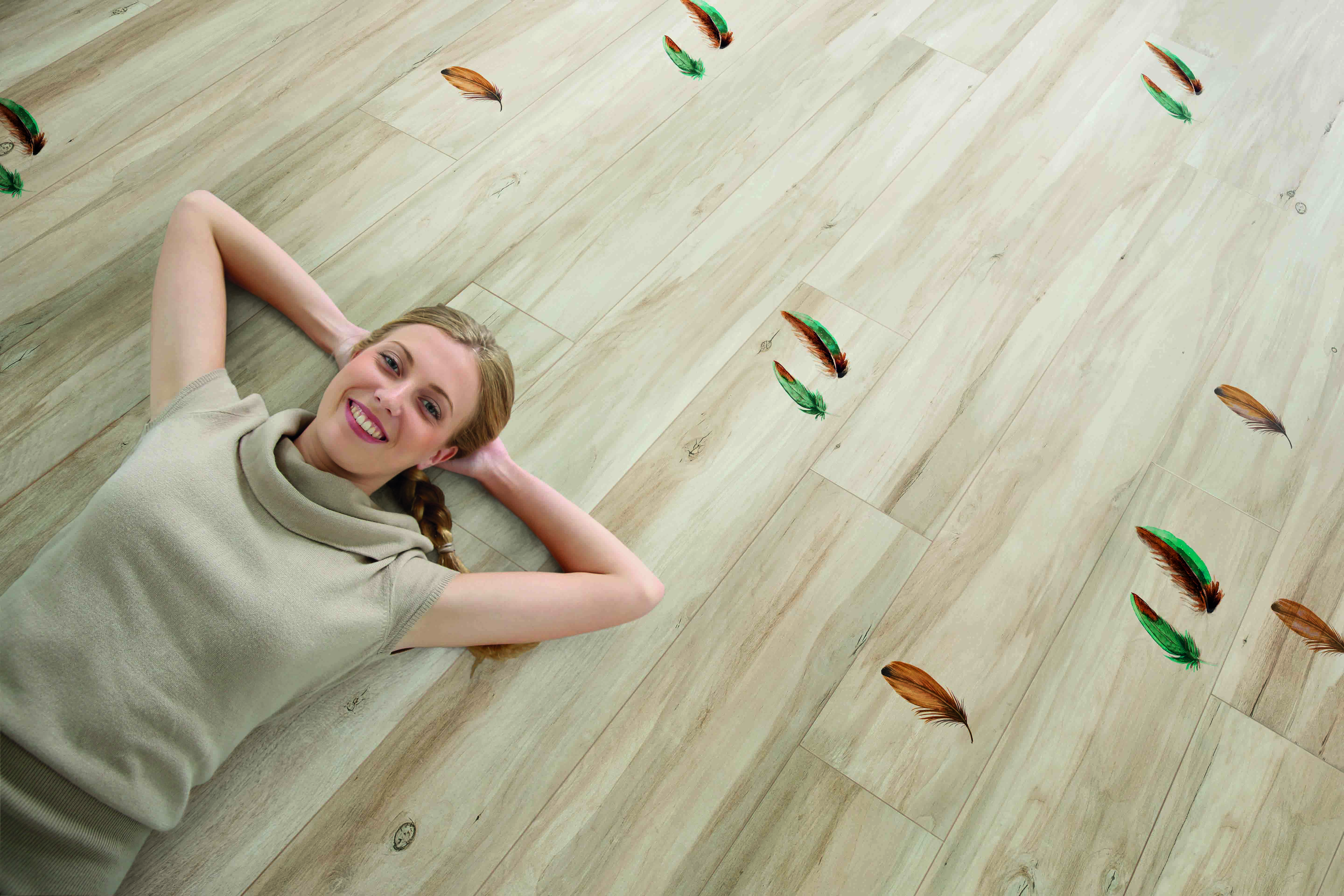 As with everything digital, the up-front process of creating designs — whether they are special stains, different wood grains, or other types of decoration for flooring — is fast and easy.